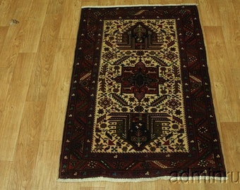 Excellent Ivory Karajeh Gharajeh Persian Wool Oriental Area Rug Carpet Sale 4X6