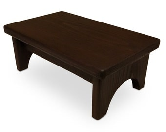 HollandCraft - Wood Step Stool Wooden Foot Stool Bed Step Stool Beside Stool Potty Stool
