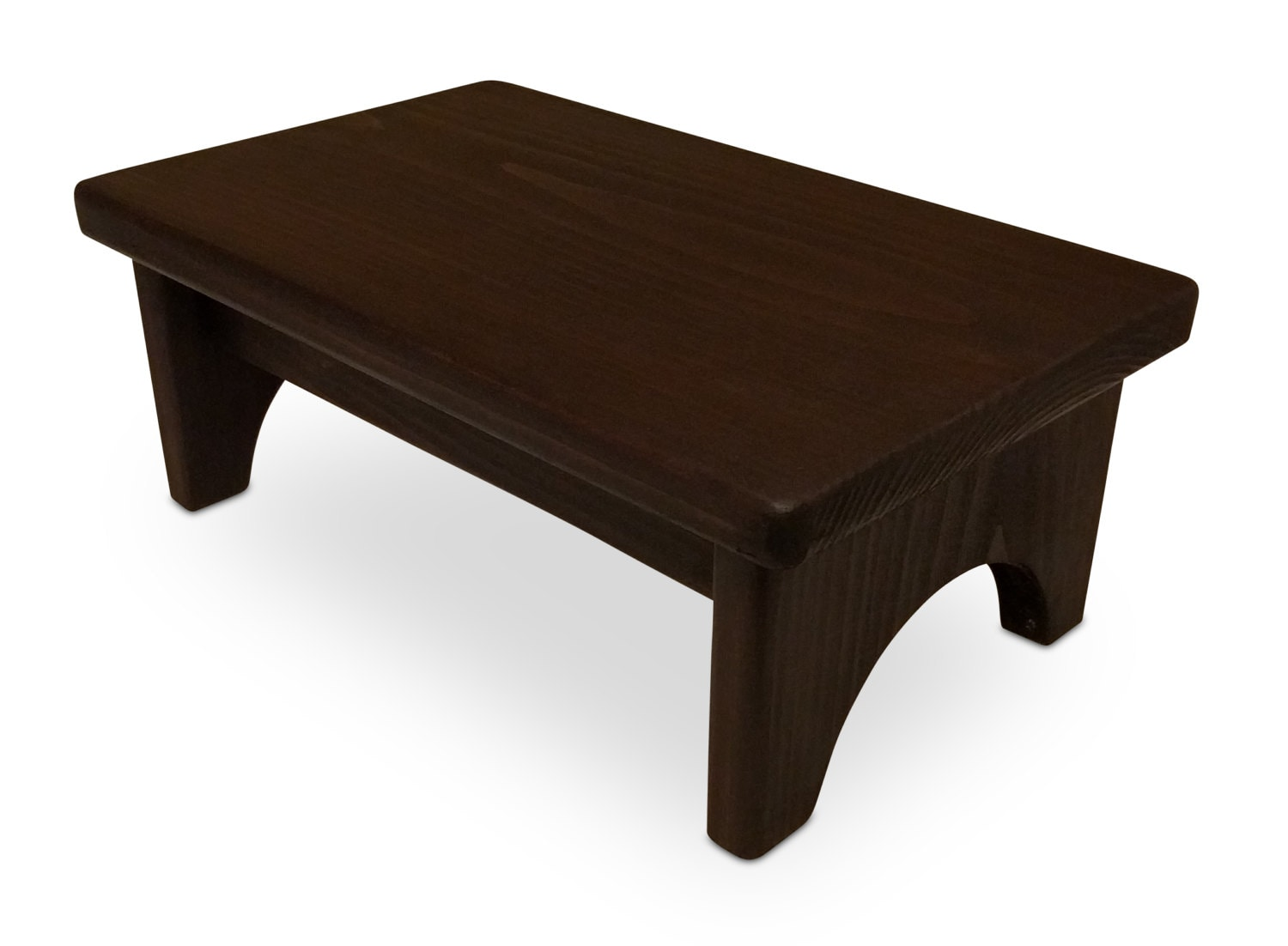 Hollandcraft Wood Step Stool Wooden Foot Stool Bed Step