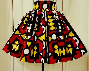 African Print Skirts, Ankara, Custom Made Midi Skirt,