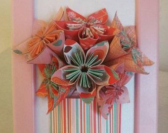Framed flower bouquet