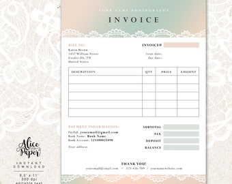 Invoice Funding Companies Invoice Template Photography Invoice Business Invoice How Invoices Work Word with Business Card And Receipt Scanner Excel Invoice Template Photography Invoice Receipt Template For Photographers  Business Invoice Photography Forms Online Receipt Form