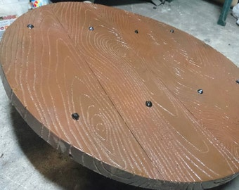 LARP wooden round shield, 75cm diameter.