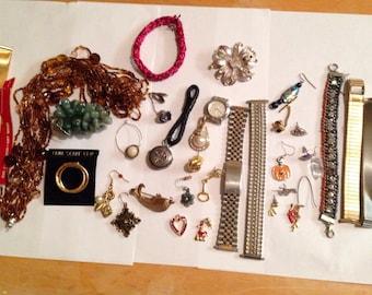 Junk Jewelry Lot #1 / Repurposed Jewelry Lot Jewelry Findings