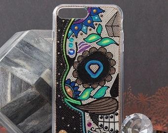 Sugar skull iPhone 6 plus Case - sugar skull iPhone 7 plus Case - sugar skull iphone 6 - sugar skull samsung galaxy s7 case handmade art