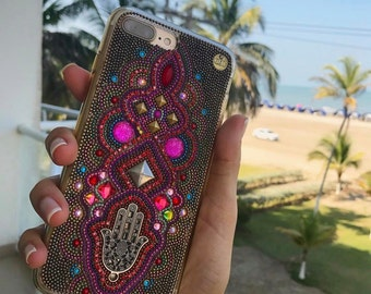 Hamsa hand phone case iphone 7 plus case colorful hamsa hand iPhone 6 Plus cases iphone case gold samsung galaxy case