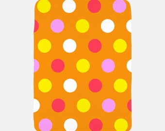 Orange Polka Dot Blanket