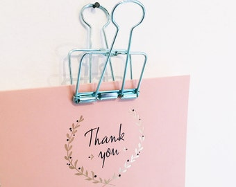 5x gift wrapping clip turquoise - 5,0cm