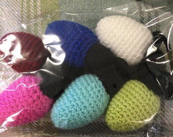 Crochet garland of lights