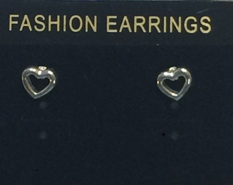 Charming Silver Heart Studs Earring