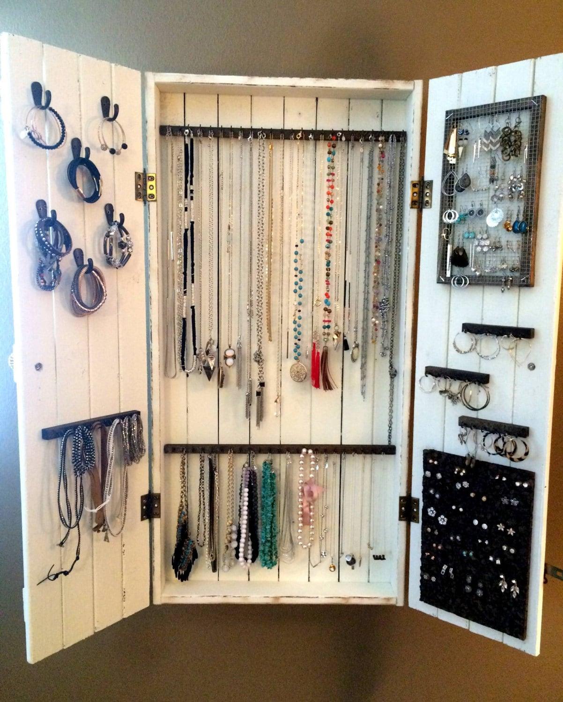 Jewelry Organizer Wall Jewelry Holder And Organizers On: Jewelry Cabinet Wall Organizer Jewelry Necklace Organizer