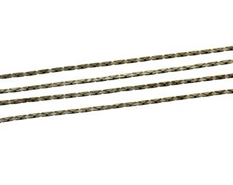 5 m bronze snake chain 0.7 x 0.7 mm - bronze chain - snake chain bronze