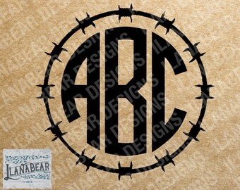 Barbed Wire Circile Monogram