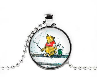 Winnie the Pooh Pendant Winnie Pooh and Piglet Necklace Classic Winnie the Pooh Jewelry