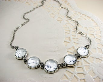 Birch Bark necklace, Birch jewelry, White bib necklace, Nature Jewelry, Botanical jewelry, Rustic wedding, Unique jewelry, White jewelry