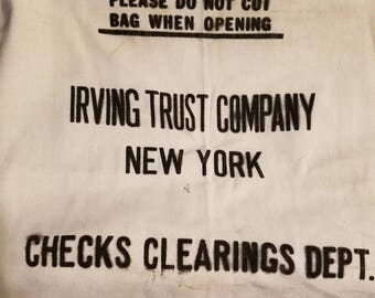 Vintage cotton bank bag