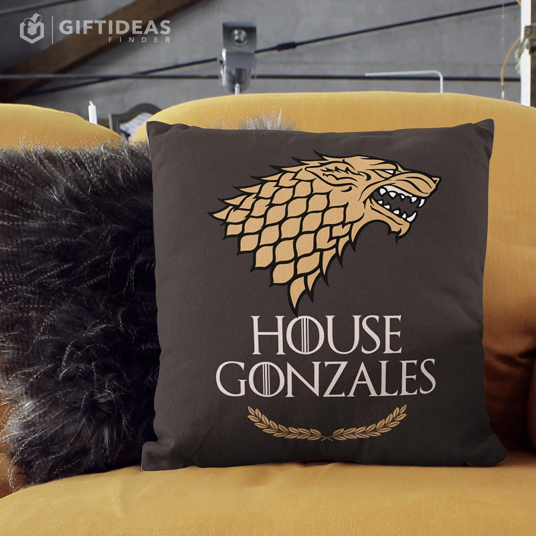 Game Of Thrones Pillow Of House Stark Game Of Thrones Gift
