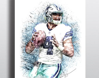 Dak etsy for Dak prescott coloring pages