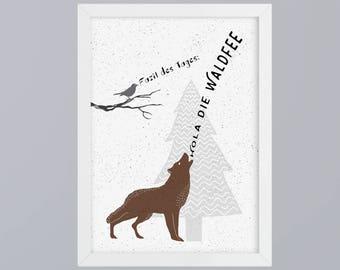 Hola the forest fairy - unframed art print