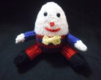 Tiny hand knitted Humpty Dumpty