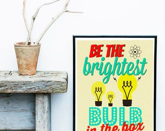 Retro Poster, Vintage Art, Motivational Print, Printable Art, Mid Century Art, Atomic Art, Mid Century Poster, Retro Wall Art, Quote Art