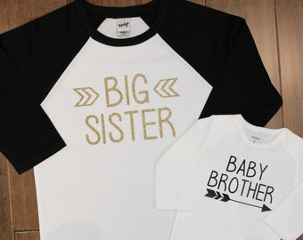 Big Sister, Baby Brother, Big Sister Shirt, Little Sister Shirt, Big Sister, Sibling Shirts, Pregnancy Announcement, New Baby Announcement