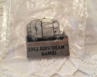 Airstream Bambi 1962 Brooch ~ RV Heritage Collection ~ Airstream Pin ~ Vintage