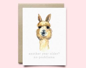 Llama Birthday Card gangcraftnet