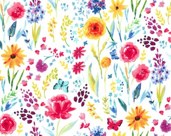 Michael Miller Garden Party Floral Woven Cotton Fabric - By the Yard