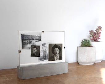 Modern Concrete Photo Stand // Cement Picture Frame // Menu Stand // Holder // Handmade