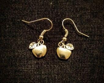 Silver Apple Earrings