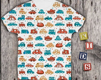 Car Shirt Kids Graphic Shirt Printed Tshirt Childs Graphic Shirt Baby Girls Printed Tee Boys Funny Shirt Childs Printed PA1118