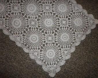 Hand Crocheted Table Runner Set