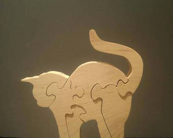 Scroll sawn cat puzzle #1