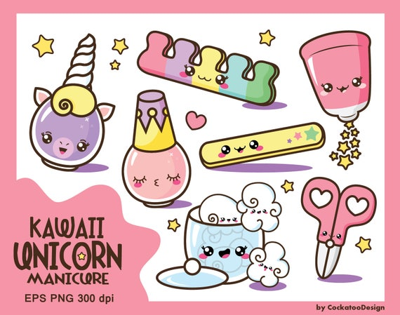 Kawaii Clip Art Nail Polish Clipart Kawaii Clipart Cute Nail