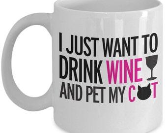 Cat Coffee Mug - Cat Lover Coffee Mug