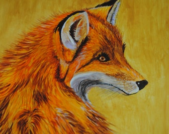 Fox Painting - Watercolour called Foxy Lady - Original Art by Sally Marshall