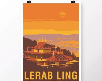 Lerab Ling Temple Poster