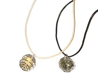Moonstone and Pyrite Pendant/Choker