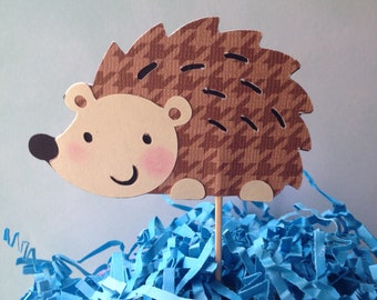 Hedgehog cake topper, baby shower decor, hedgehog decor ,woodland animals party decor, forest animals themed party.