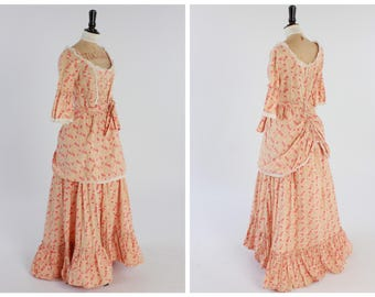 Vintage 1970s 70s Laura Ashley Victorian Style Dress UK8-10 US4-6