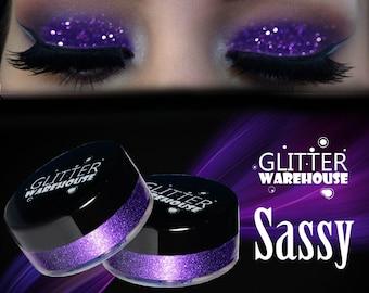 GlitterWarehouse Sassy Purple Cosmetic Grade Loose Glitter Powder for Eyeshadow, Makeup, Nails, Lips, Body, Tattoo and Crafts