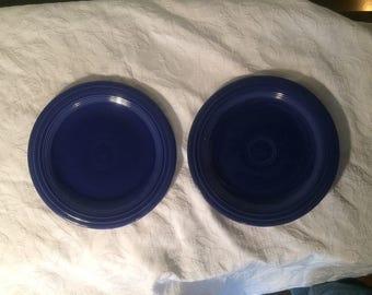 Fiestaware - Cobalt Blue Dinner Plates (2) - RARE