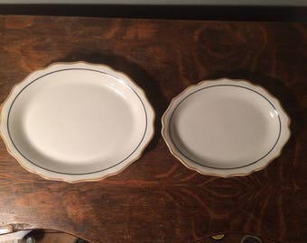 Syracuse Restaurant Ware - Pair of Serving Platters