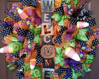 Halloween Welcome Wreath (#0227)