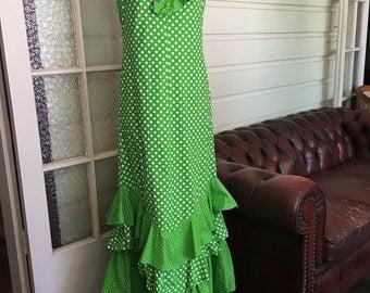 Green & White Polka Dot Dress