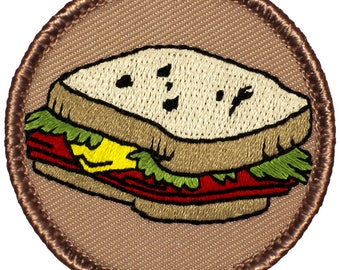 Sandwich Patch (814) 2 Inch Diameter Embroidered Patch