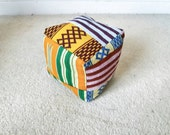 Kids soft play cube African print Kente babies toy soft play soft cube sensory play