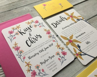Flower Candy Wedding Invitation Set - Sample Only