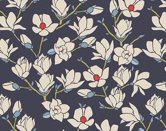 1/2 yard KNIT fabric, Charleston collection, Art Gallery fabric, Magnolia Nightfall, sold half yard increments